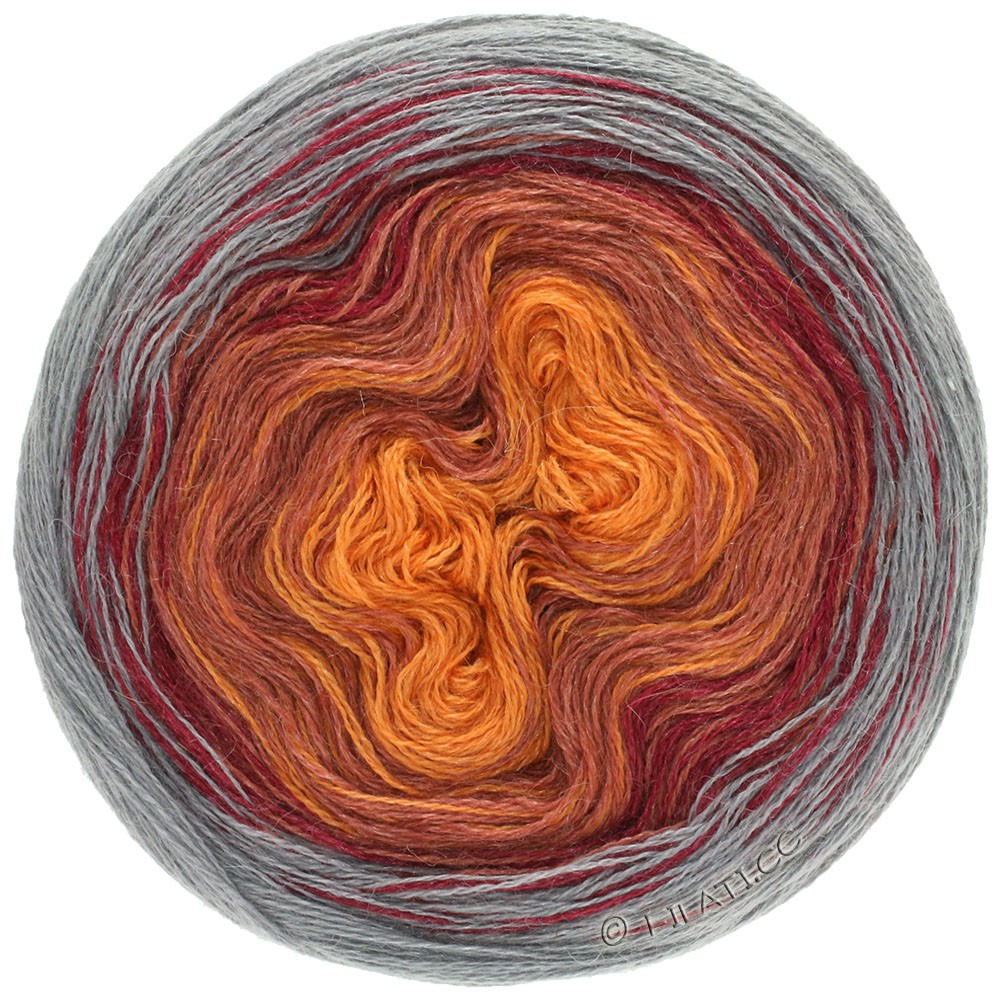 Lana Grossa SHADES OF ALPACA SILK | 307-Nougat/Bordeaux/Altrosa/Orange