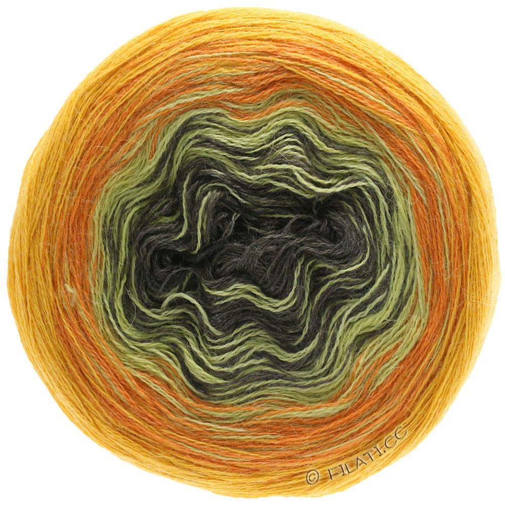 Lana Grossa SHADES OF ALPACA SILK | 308-Graubraun/Vanille/Orange/Dottergelb