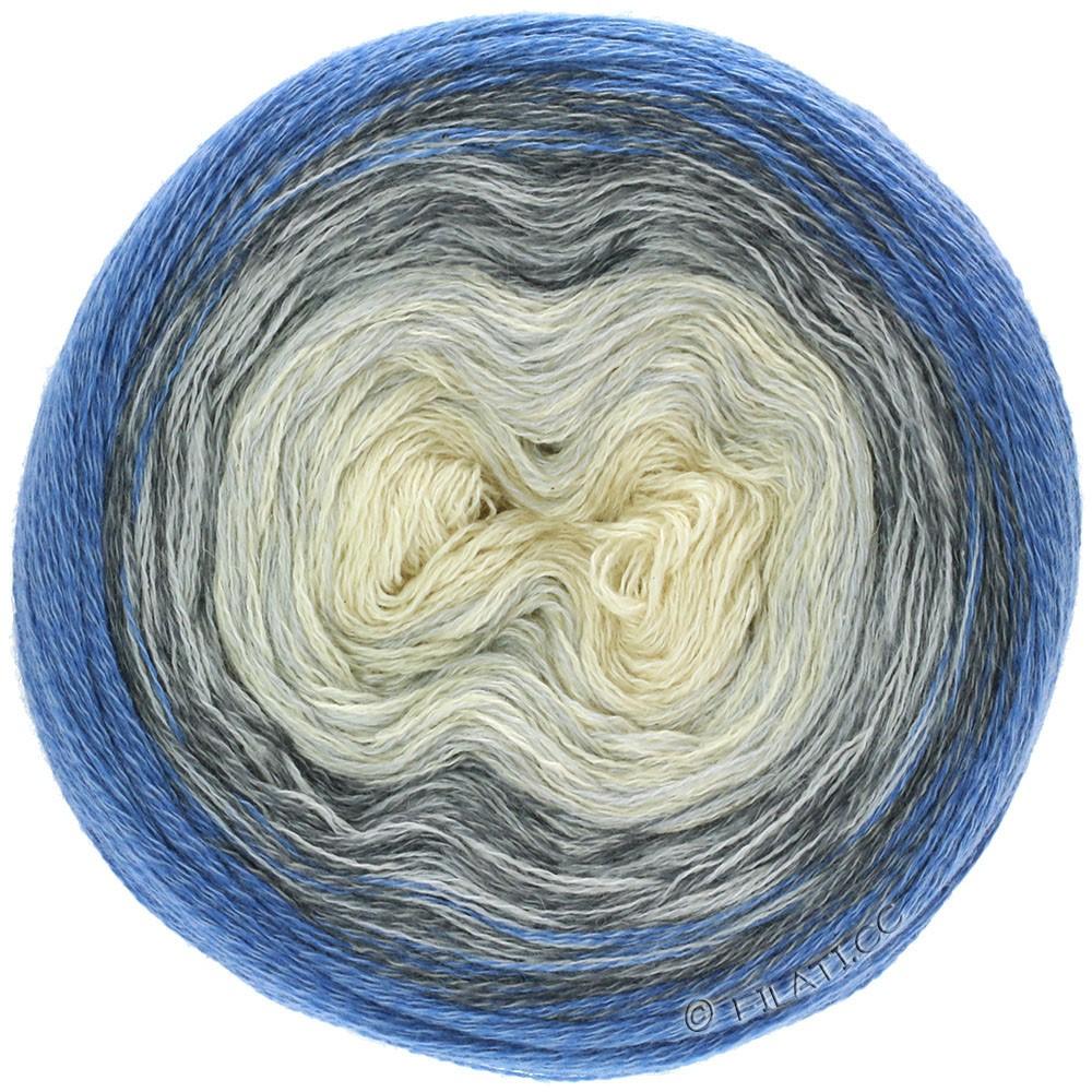 Lana Grossa SHADES OF MERINO COTTON | 408-Rohweiß/Silbergrau/Grau/Blau