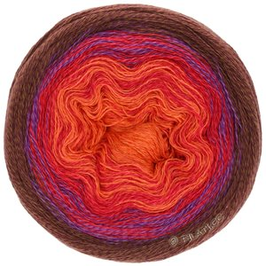 Lana Grossa SHADES OF MERINO COTTON | 411-Orange/Feuerrot/Zyklam/Brombeer
