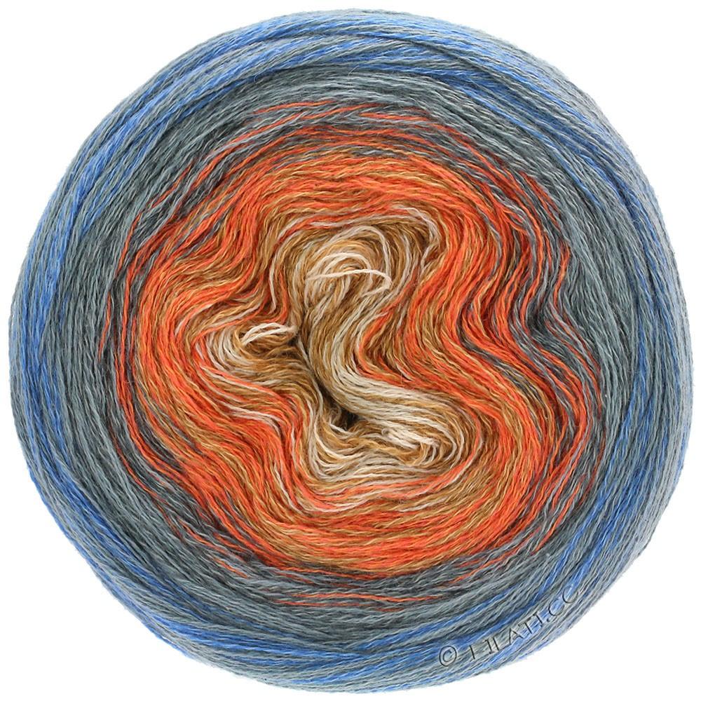 Lana Grossa SHADES OF MERINO COTTON | 609-Sand/Orange/Khaki/Dunkelgrau
