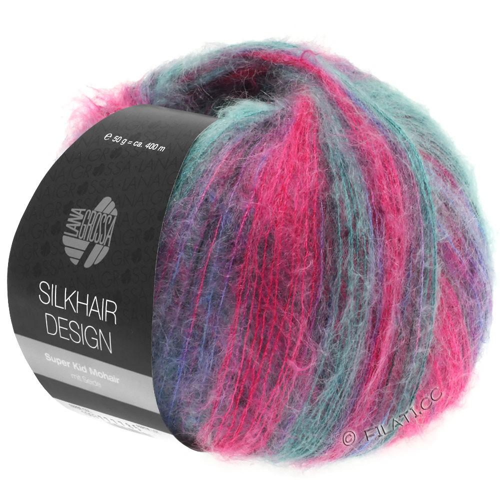 Lana Grossa SILKHAIR Design   1004-Pink/Brombeer/Petrol/Blauviolett