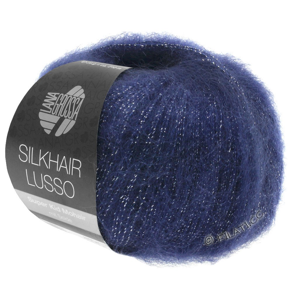 Lana Grossa SILKHAIR Lusso | 907-Dunkelblau