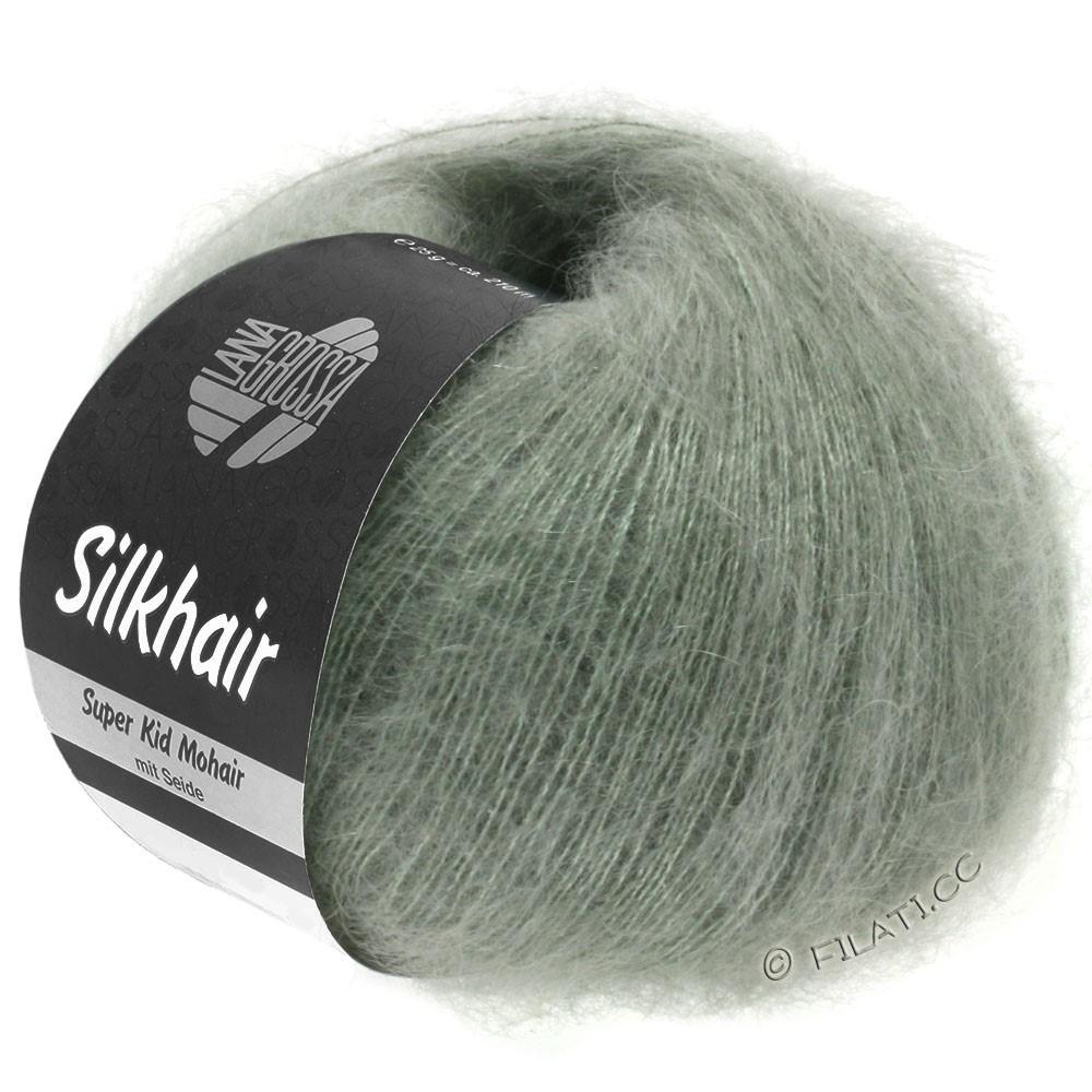 Lana Grossa SILKHAIR  Uni/Melange | 105-Graugrün