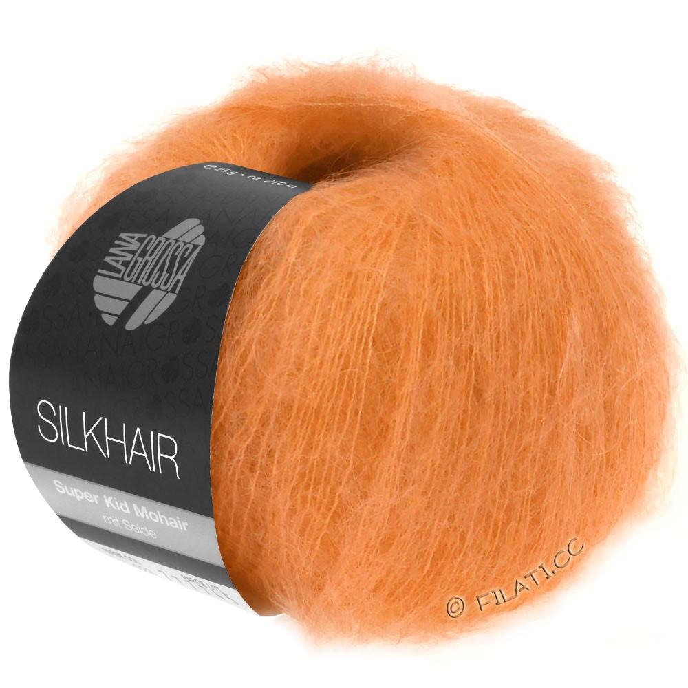 Lana Grossa SILKHAIR  Uni/Melange | 125-Orange