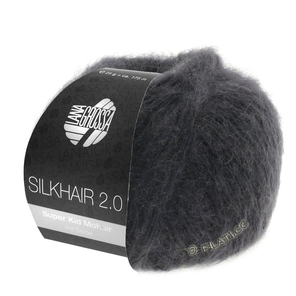 Lana Grossa SILKHAIR 2.0 | 01-Anthrazit