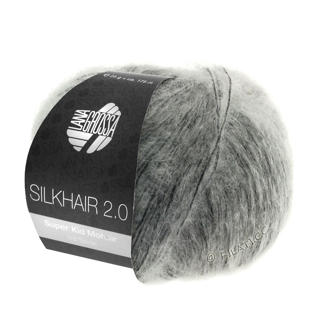 Lana Grossa SILKHAIR 2.0 | 02-Grau