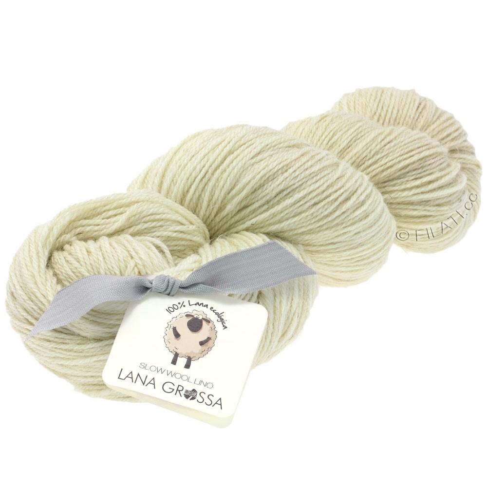 Lana Grossa SLOW WOOL LINO | 01-Rohweiß