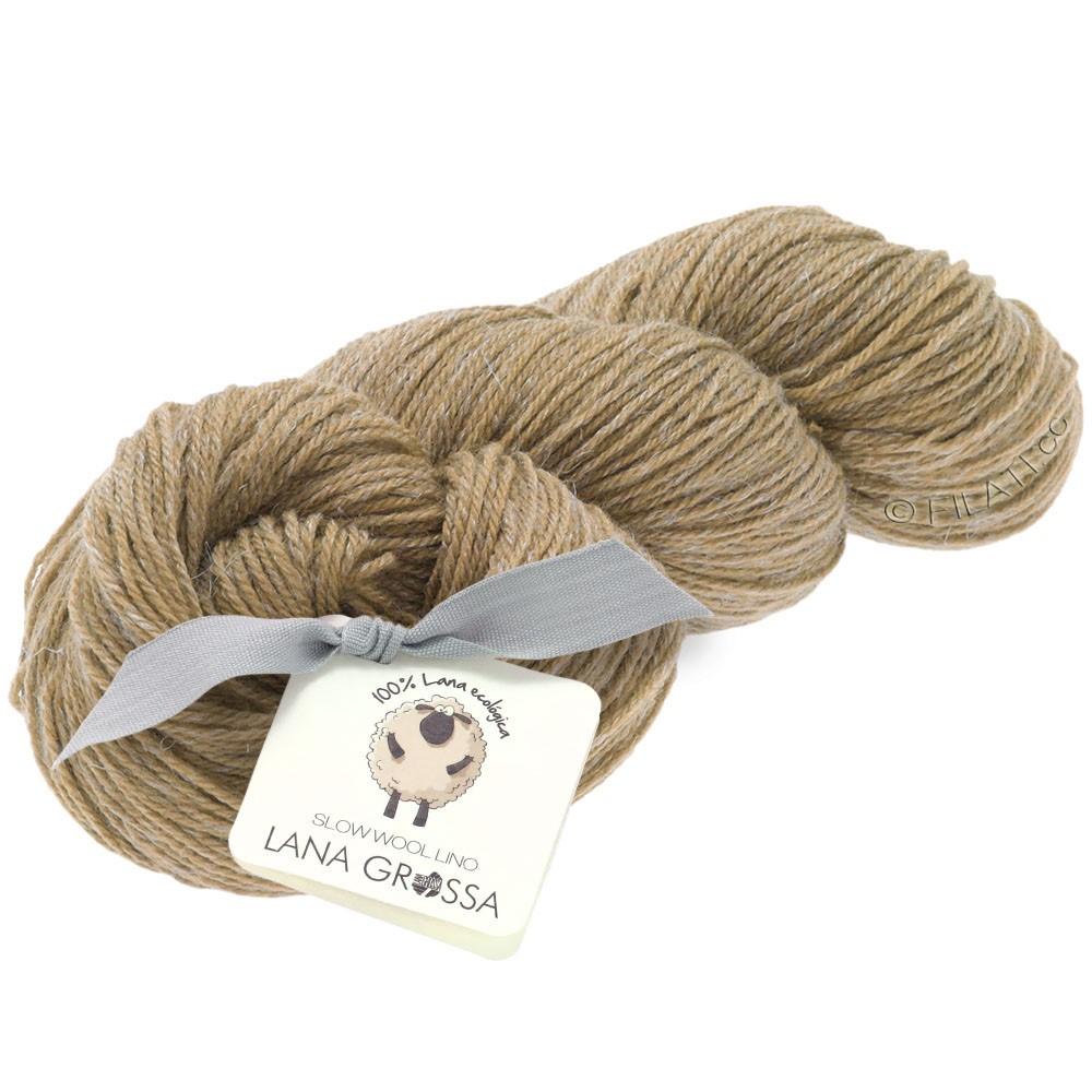 Lana Grossa SLOW WOOL LINO | 02-Camel