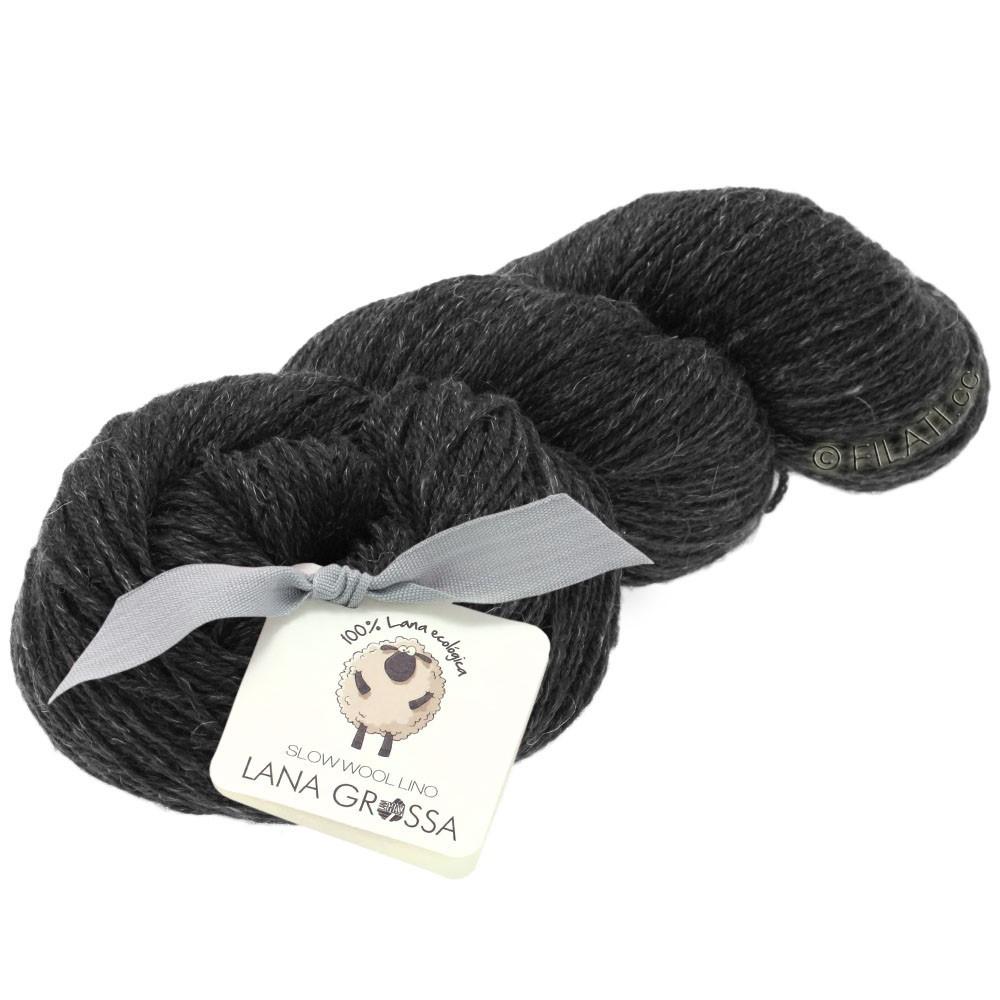 Lana Grossa SLOW WOOL LINO | 08-Anthrazit