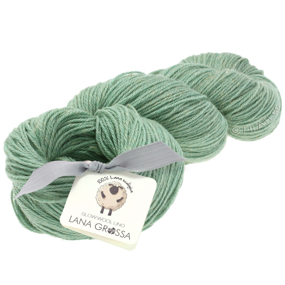 Lana Grossa SLOW WOOL LINO | 10-Pastelltürkis