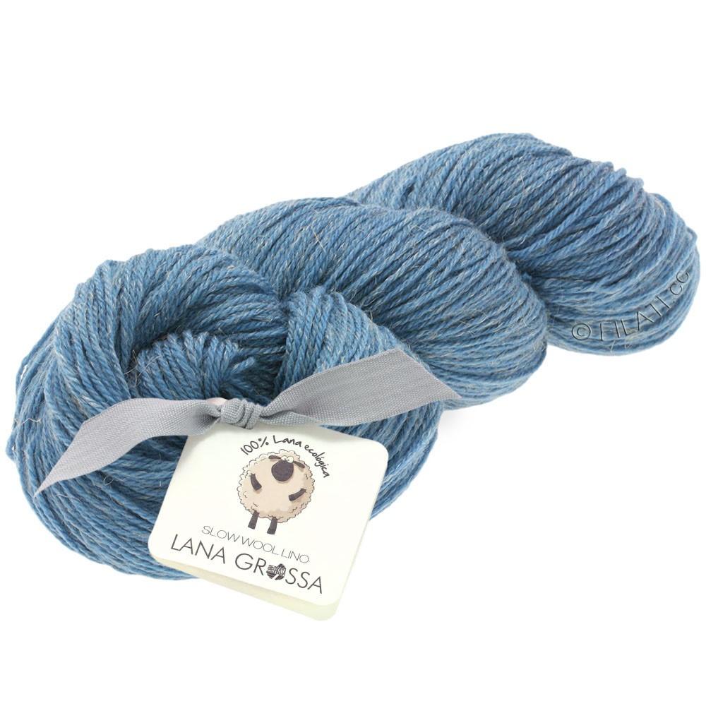 Lana Grossa SLOW WOOL LINO | 12-Mittelblau