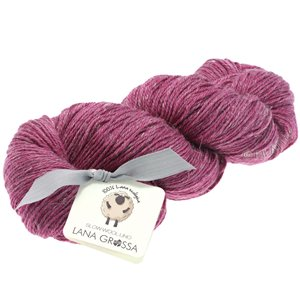 Lana Grossa SLOW WOOL LINO | 19-Dunkelpink