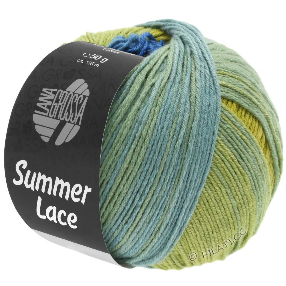 Lana Grossa SUMMER LACE DEGRADÉ | 104-Gelb/Blau/Jadegrün