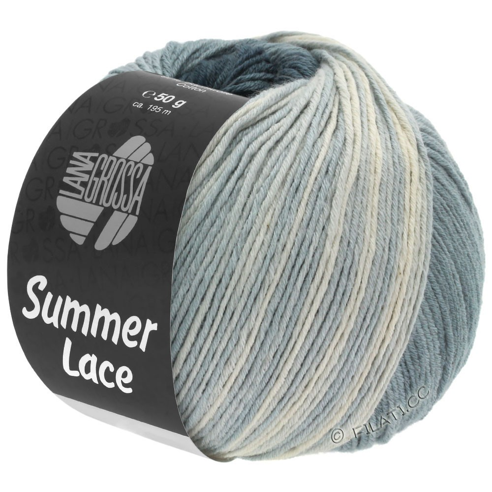 Lana Grossa SUMMER LACE DEGRADÉ | 110-Natur/Grau/Anthrazit