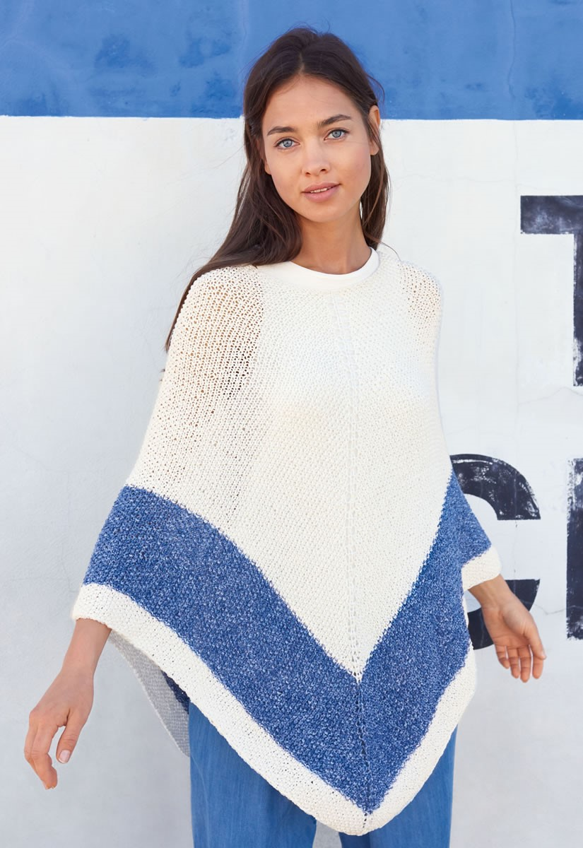 Lana Grossa PONCHO Denim