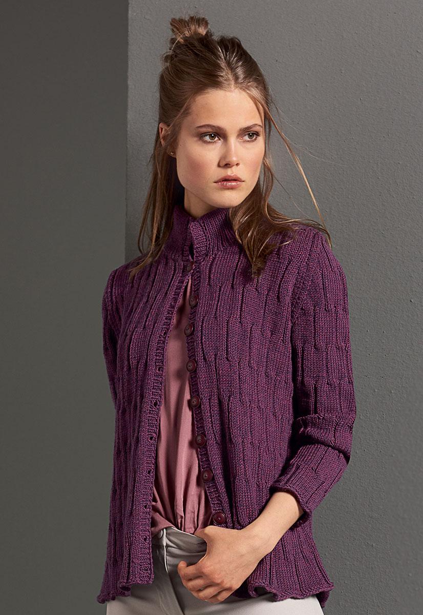 Lana grossa jacke cool wool big melange filati classici no 10 modell 3 filati - Lana grossa diva ...