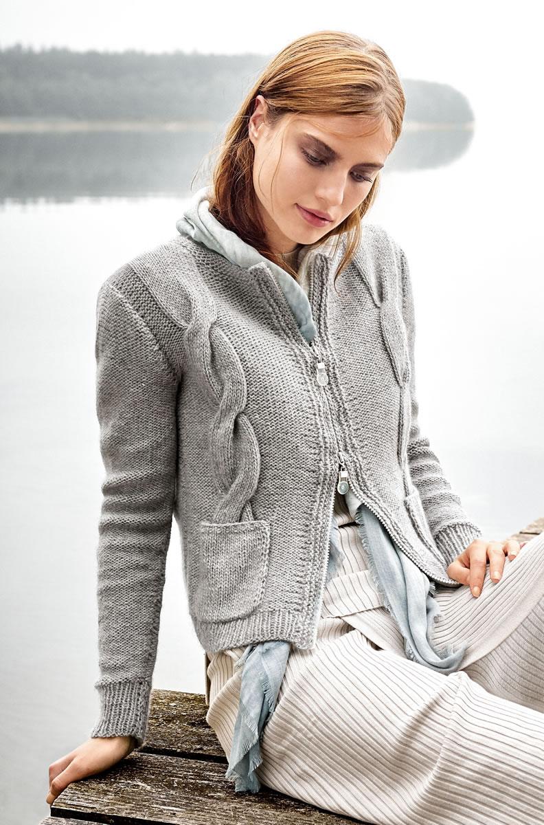Strickjacke zum stricken