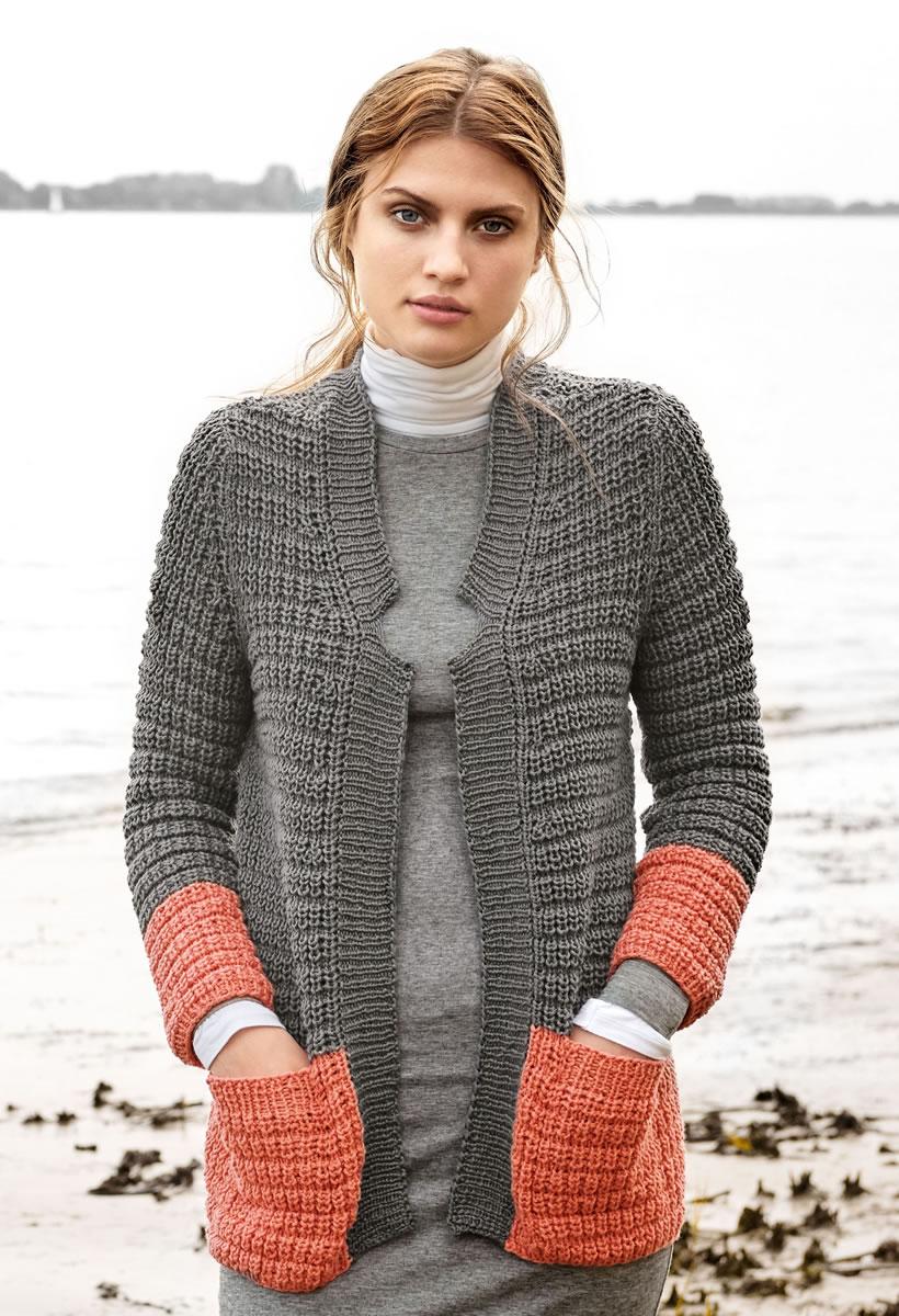 Lana grossa jacke 365 cotone filati classici no 11 modell 21 filati strickmodelle - Lana grossa diva ...