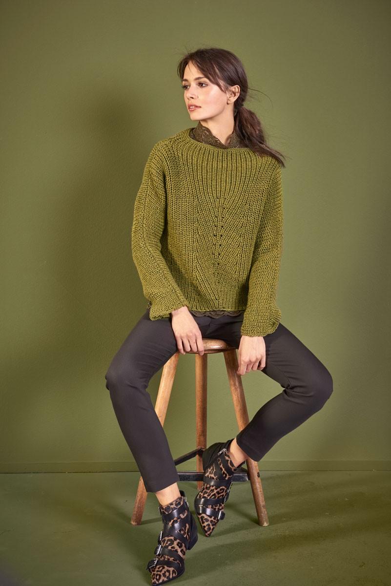 Lana Grossa PULLOVER Cool Wool Big Melange
