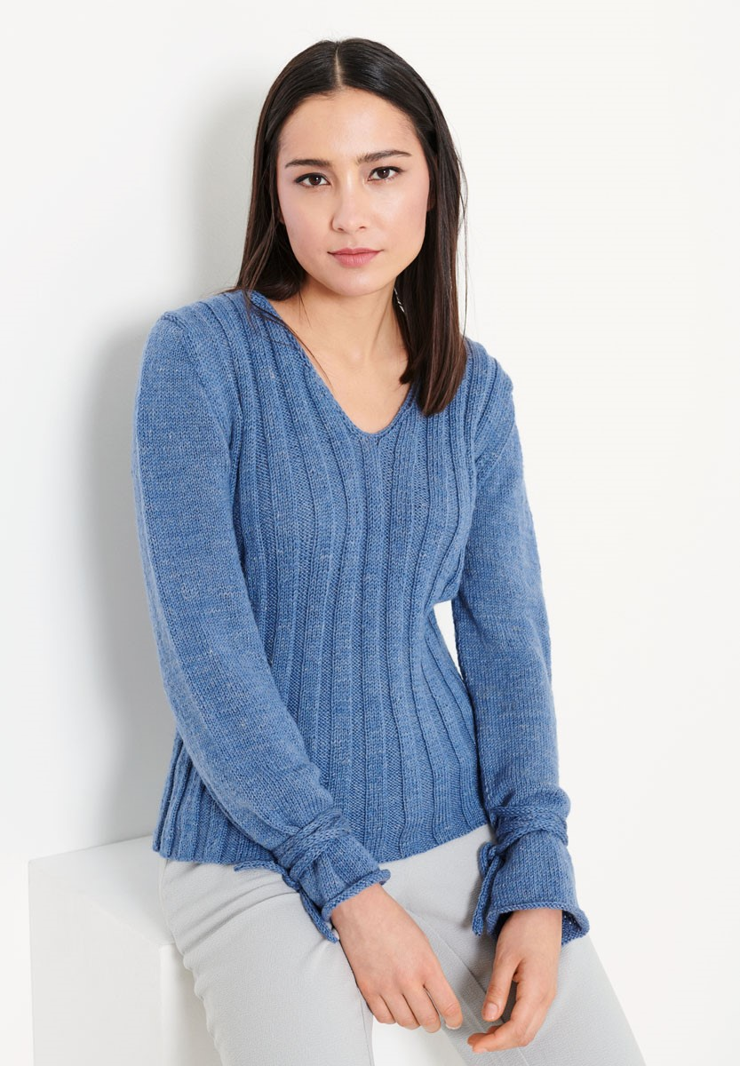 Lana Grossa PULLOVER Slow Wool Lino
