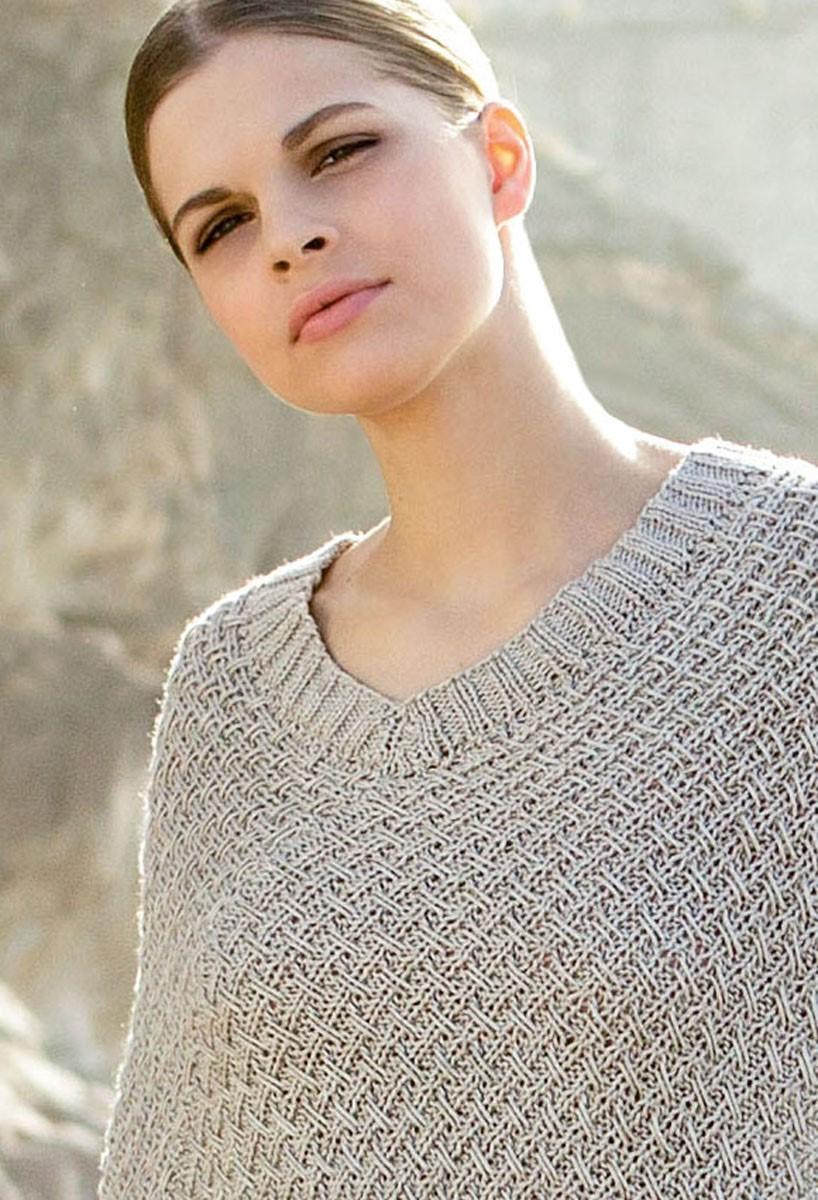 Lana Grossa PONCHO IM RIPPENWEBMUSTER Linarte