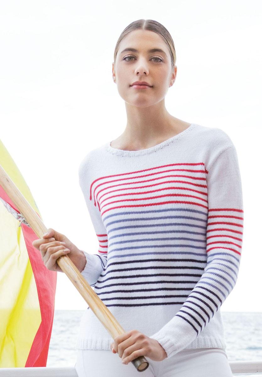 Lana Grossa PULLI GLATT RECHTS MIT RINGELN Summer Lace