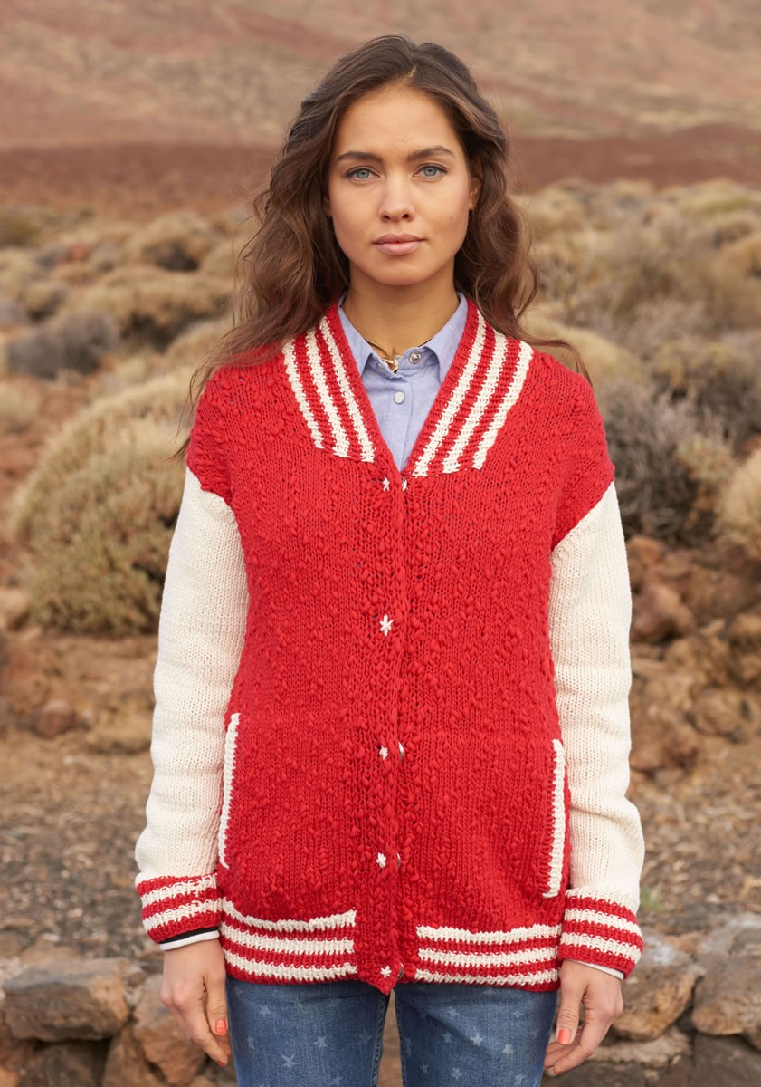 Lana Grossa JACKE MIT GESTREIFTEN BLENDEN UND TASCHEN Cotton Style/Only Cotton