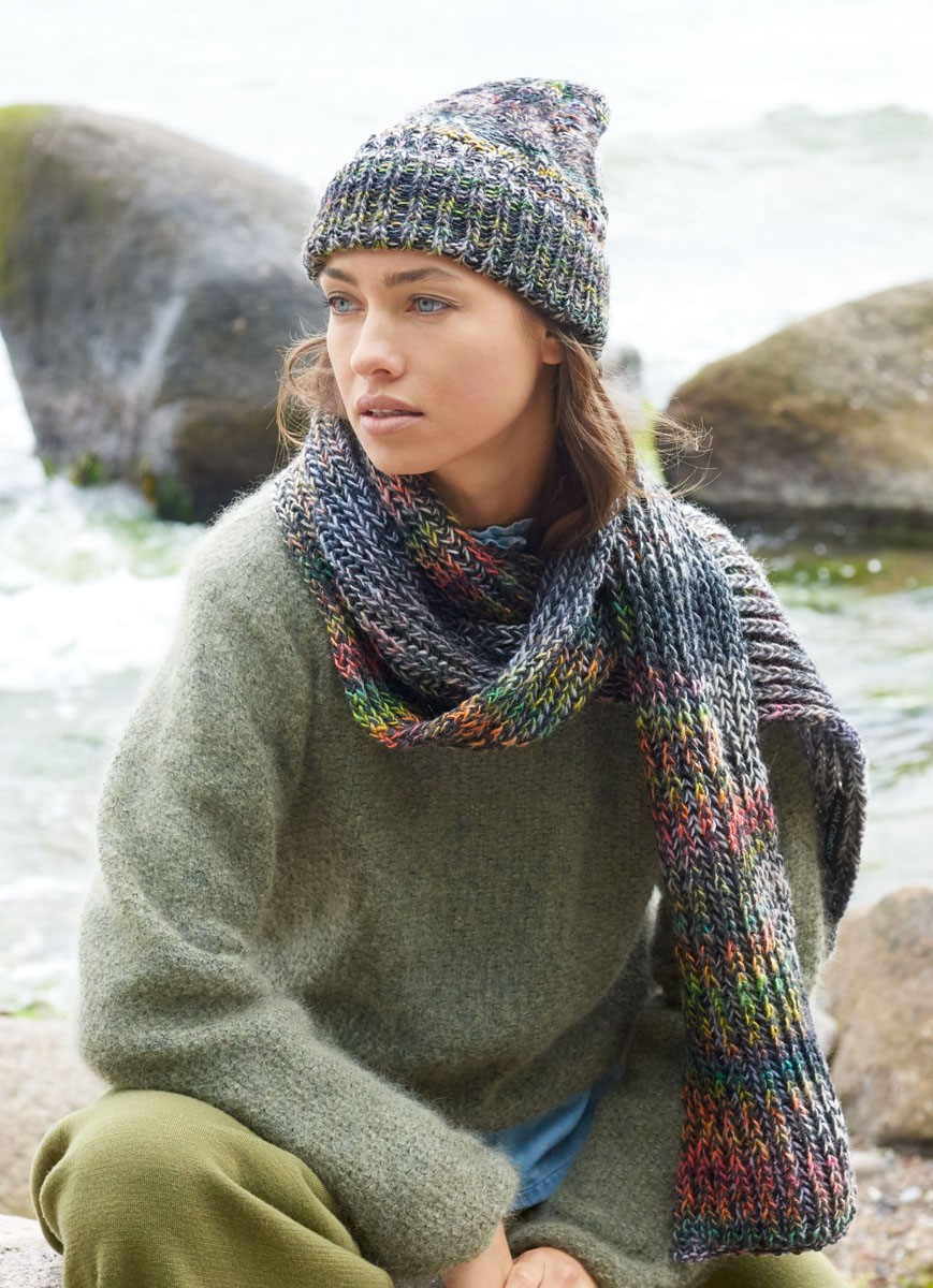 Lana Grossa SCHAL IM PATENTMUSTER Gomitolo 200/Cool Wool