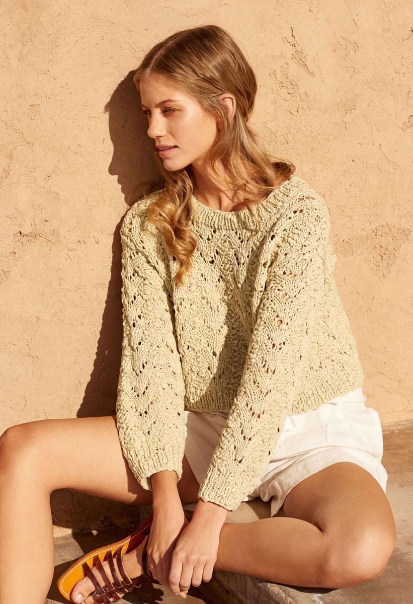 Lana Grossa KURZPULLI IM AJOURMUSTER Cotton Style