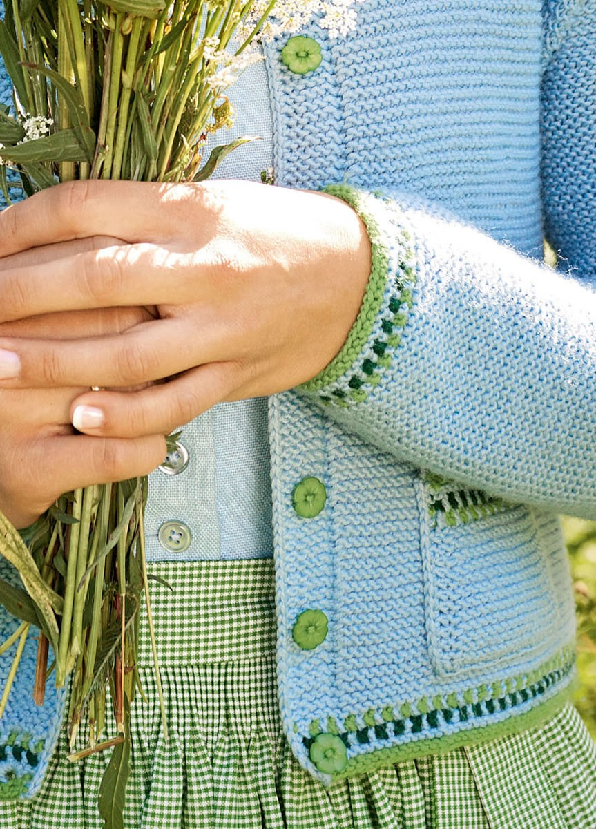 Lana Grossa DAMENJACKE MIT JACQUARDBORDÜRE  Cool Wool Big