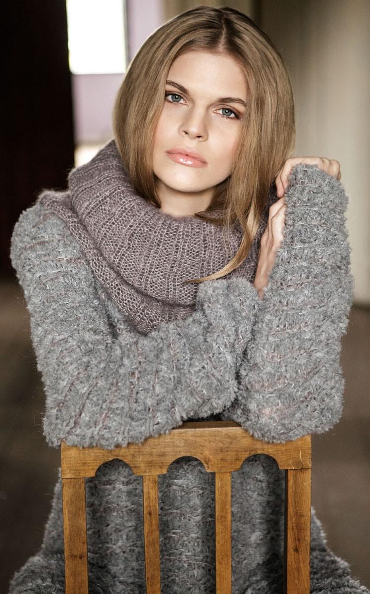 Lana Grossa ROLLKRAGEN IN RIPPEN Silkhair