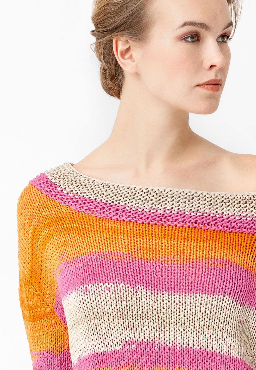 Lana grossa pulli in kastenform primavera colors no 2 modell 4 filati strickmodelle - Lana grossa diva ...