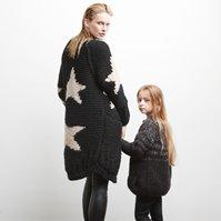 Lana Grossa RAGLANMANTEL MIT STERNEN Soffilo/Lace Paillettes