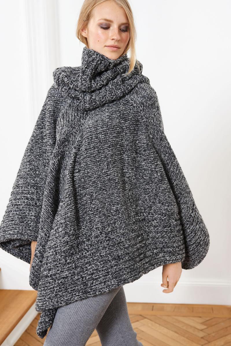 lana grossa poncho alta moda superbaby jasp design special no 3 modell seite 18 a filati. Black Bedroom Furniture Sets. Home Design Ideas