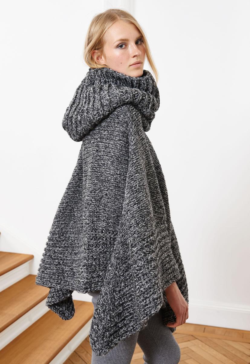 Lana grossa poncho alta moda superbaby jasp das ist trend 2015 modell 3 filati - Lana grossa diva ...
