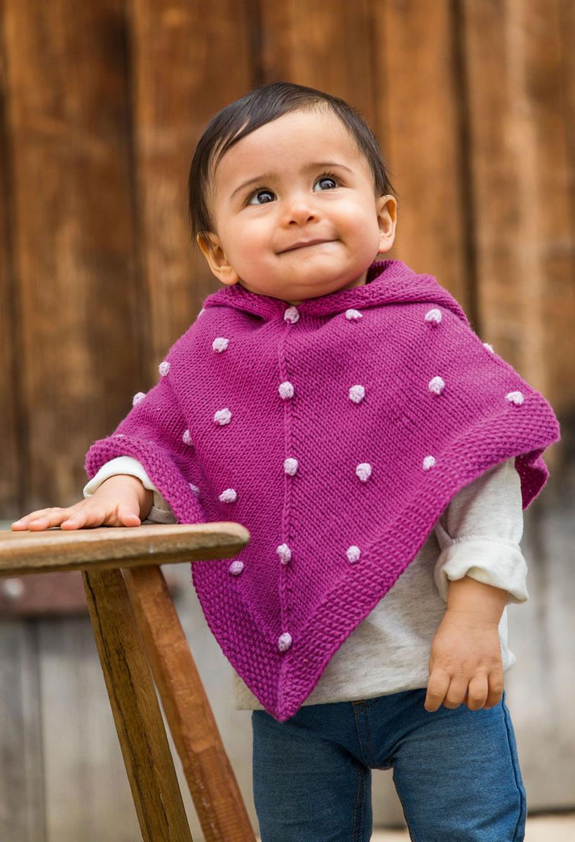 Dorable Kinder Poncho Strickmuster Sketch - Decke Stricken Muster ...