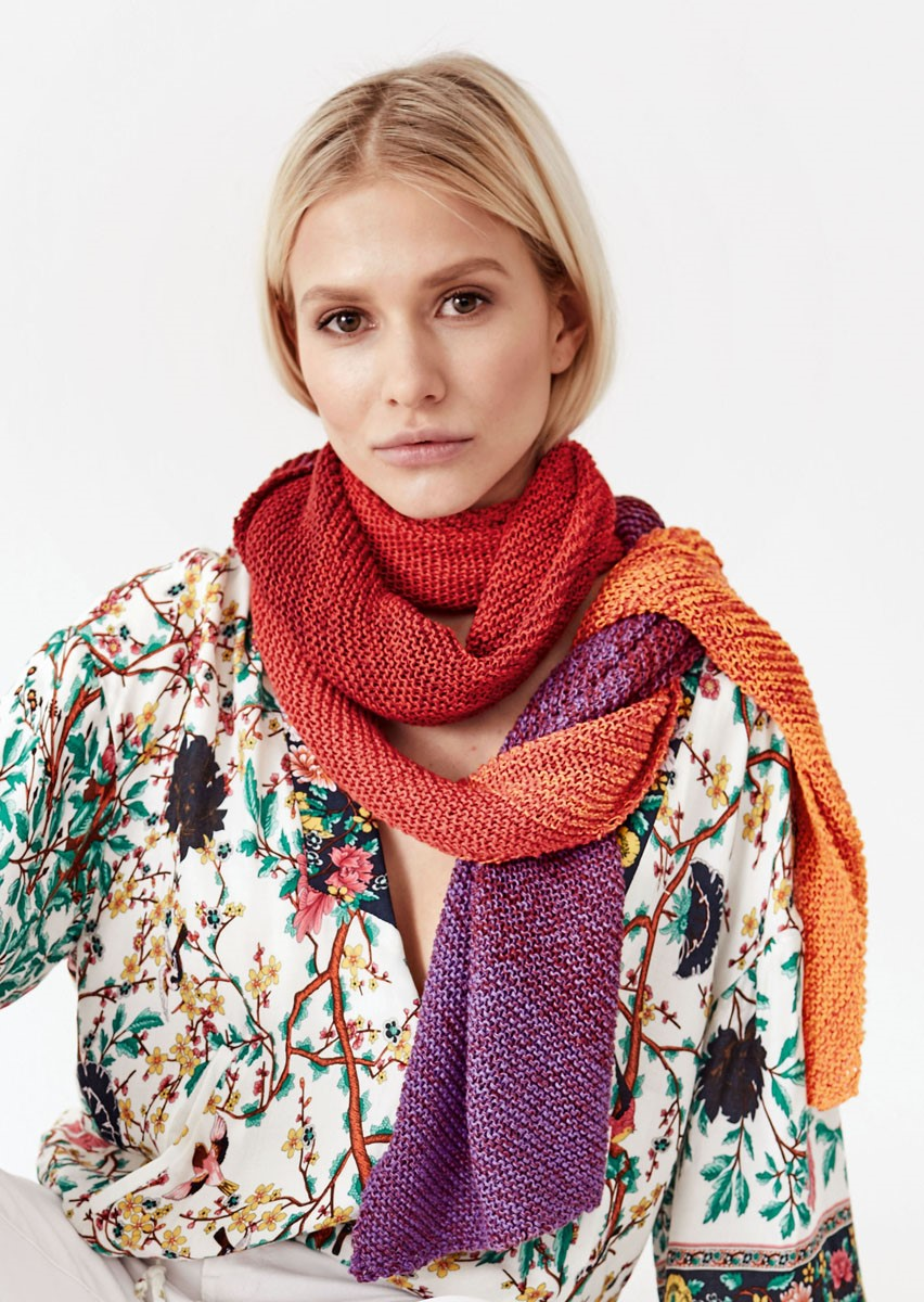 Lana Grossa DIAGONALER SCHAL Shades of Cotton