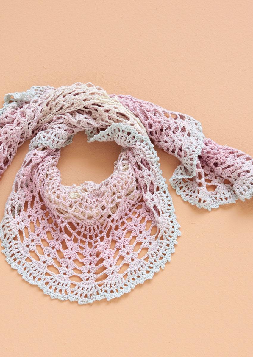 Lana Grossa Halbrundes Tuch Shades Of Merino Cotton Shades Of