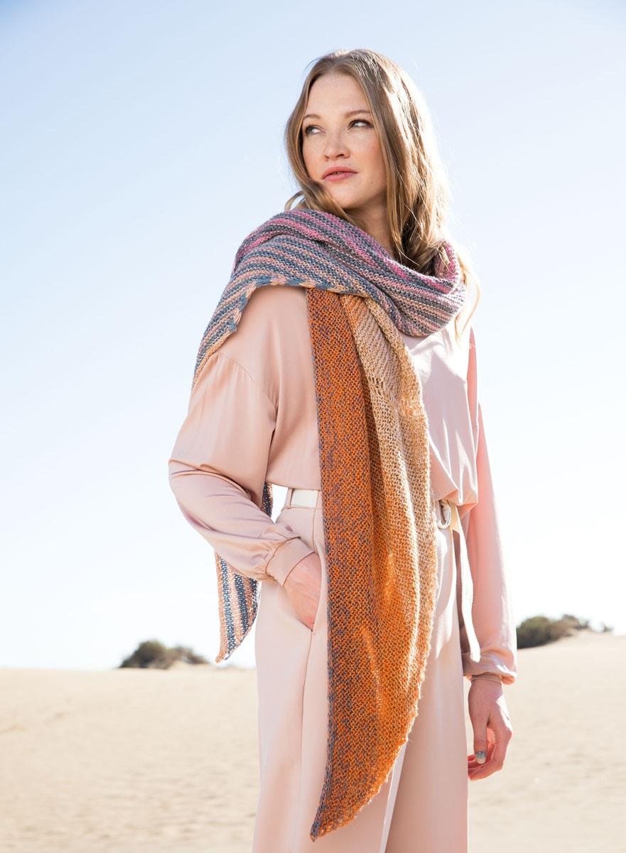 Lana Grossa DREIECKTUCH/SCHAL Shades of Merino Cotton