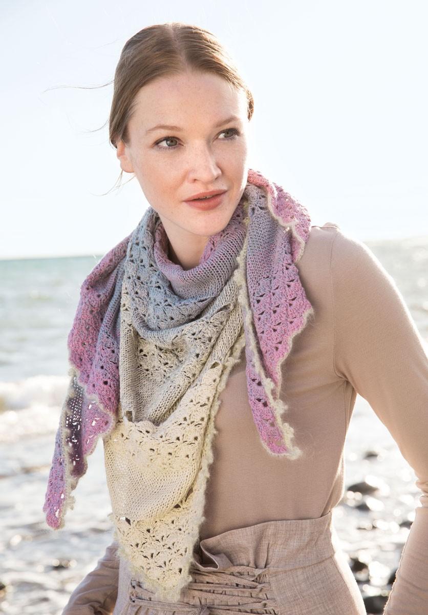 Lana Grossa DREIECKTUCH Shades of Cotton Linen/Silkhair Lusso