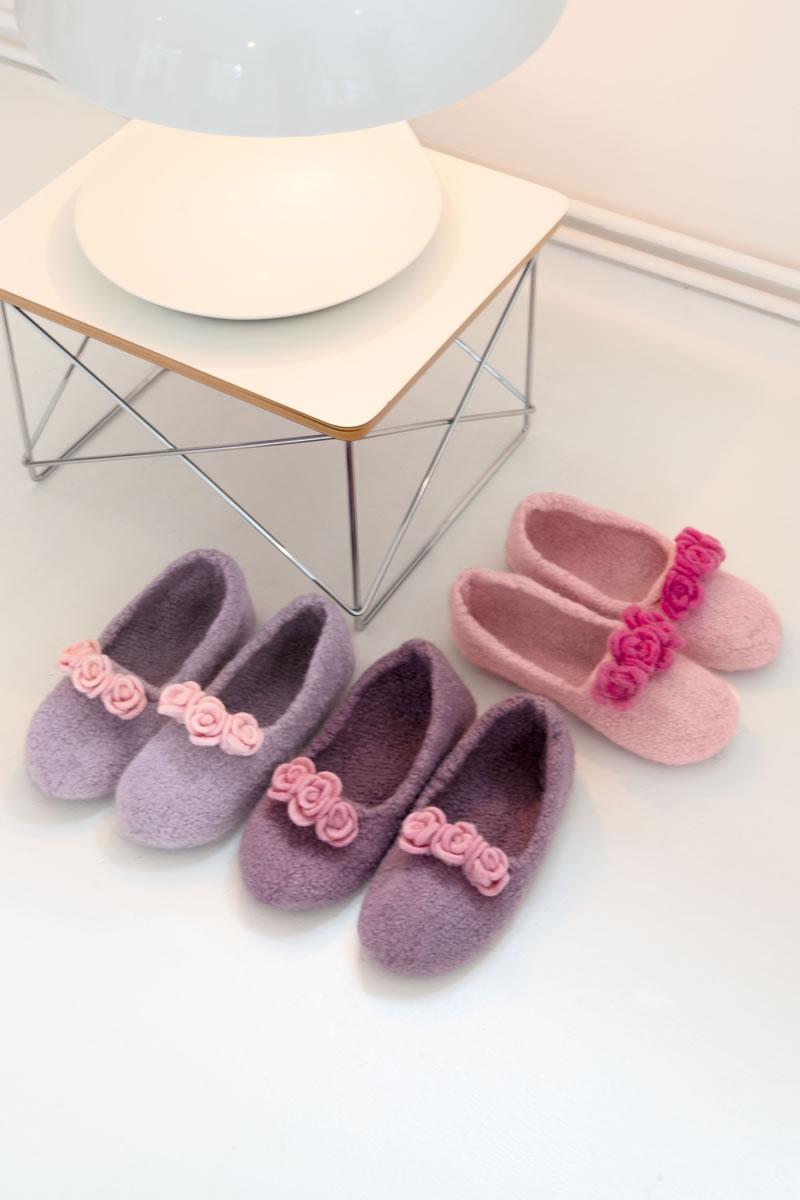 lana grossa hausballerinas feltro strick filz no 10 modell 8 filati strickmodelle. Black Bedroom Furniture Sets. Home Design Ideas