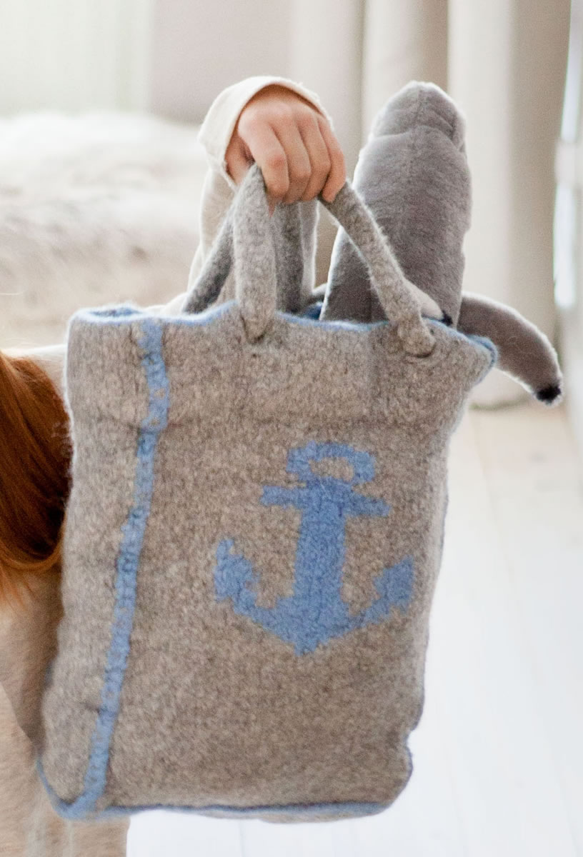Lana Grossa Shopper Mit Anker Feltro Strick Filz No 10 Modell