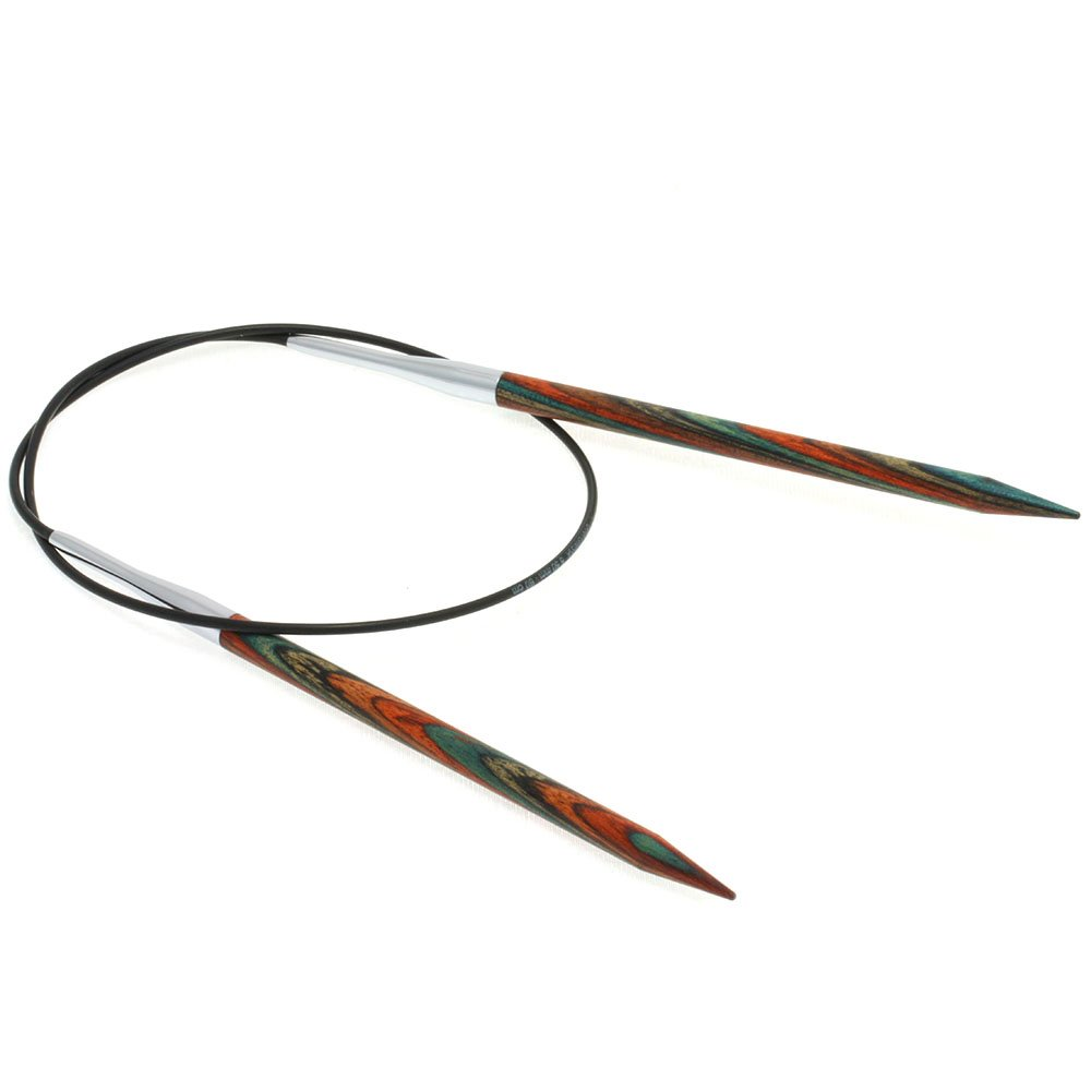 Lana Grossa Rundstricknadel Design-Holz Color St. 5,5/ 60cm