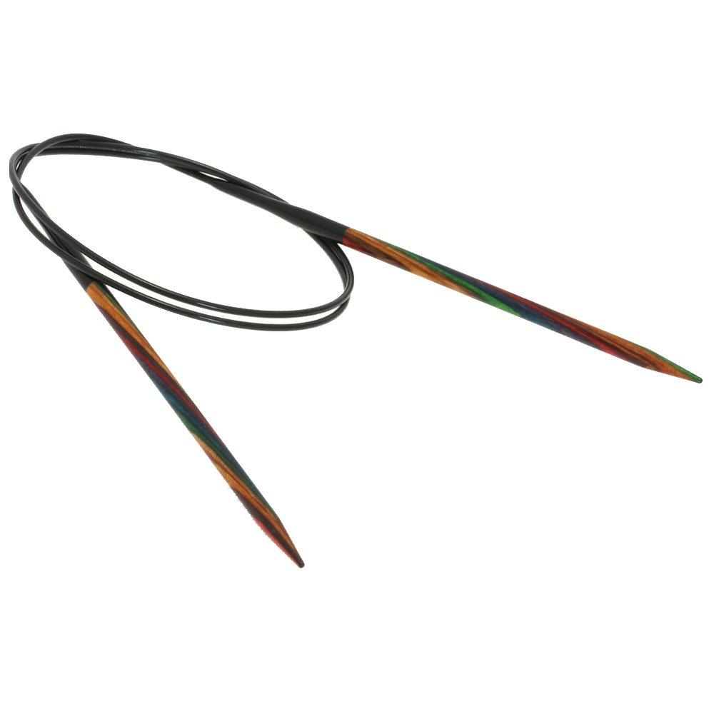 Lana Grossa Rundstricknadel Design-Holz Color St. 4,5/ 80cm